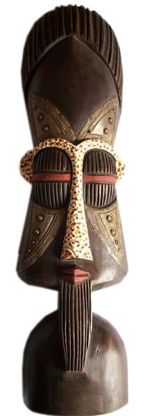 """Африканская маска  """"Asafo King """" (Король Асафо) дополняет праздничный наряд короля.  Используется во время королевских..."""
