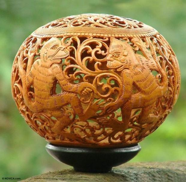 Поделки их кокосовой скорлупы