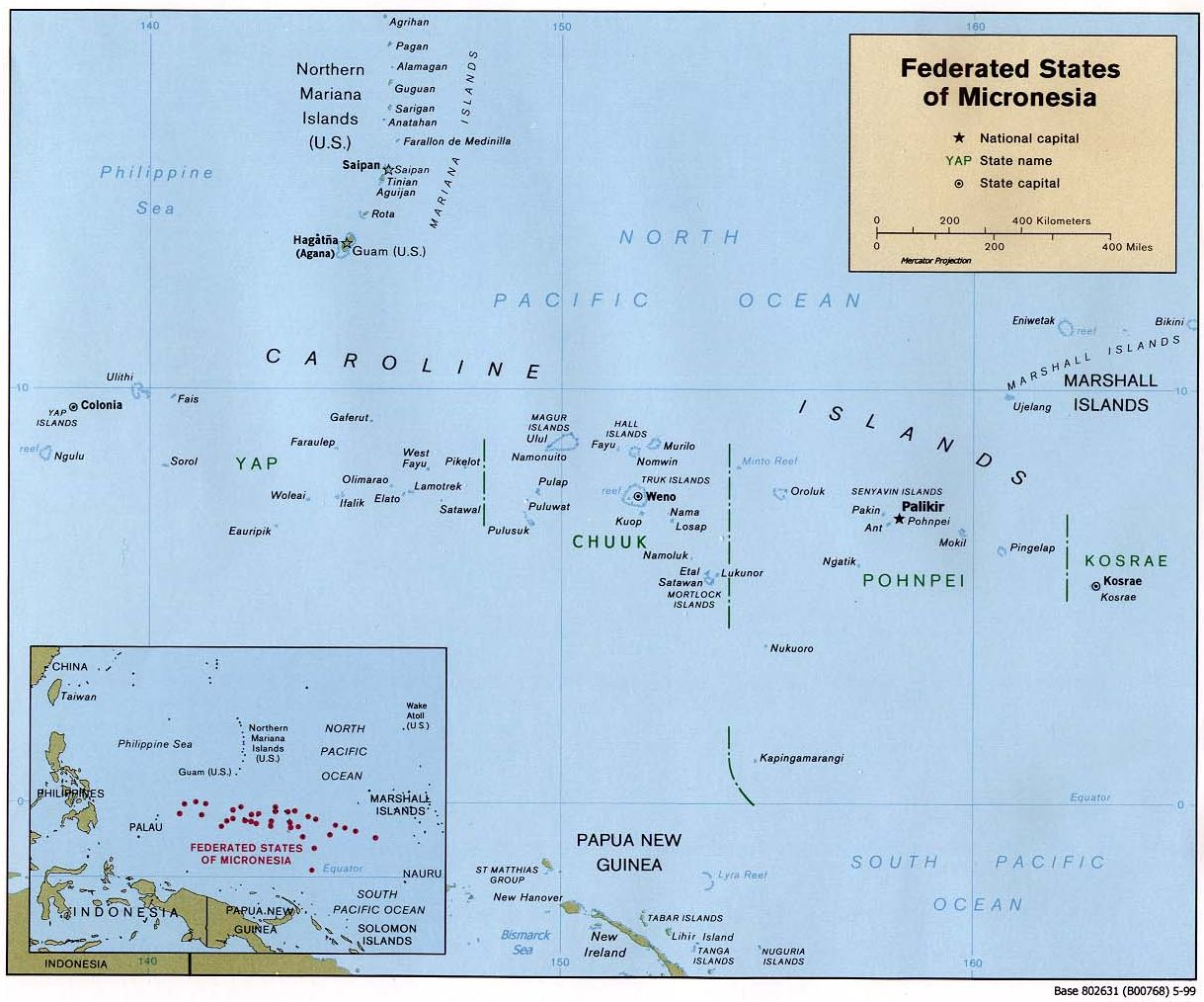 pacific ocean and northwest new guinea